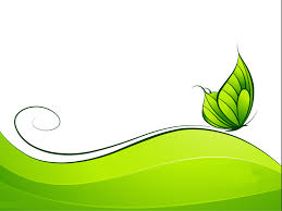 green abstract design with butterfly templates for powerpoint