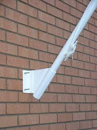 Flag Pole Wall Mount Buy Pair Of 45 Degree Angled Brackets Flags Flagpoles And Banners