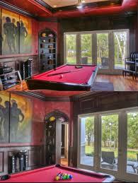 interior impressive vintage game room decor ideas red pool table