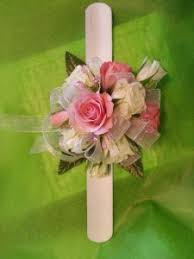 White Rose Wrist Corsage Pink And White Rose Snap Band Wrist Corsage In Mantua Nj