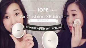 iope air cushion xp matte finish review youtube