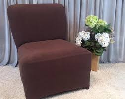 slipcovers for armless chairs slipper chair cover etsy
