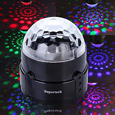 supertech led magic ball light instructions amazon com supertech 7 color changing 3w rgb crystal magic rotating