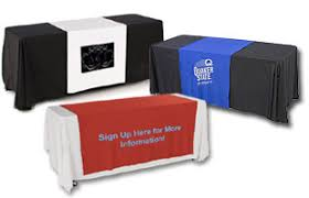 trade show table runner trade show table covers throws cloths decorative linens conceal