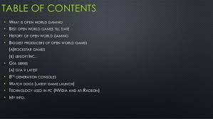 What Is Open Table Next Generation Open World Gaming Latest Games