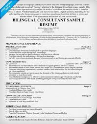 Bilingual In Resume Ideas Collection Bilingual Resume Sample For Your Job Summary