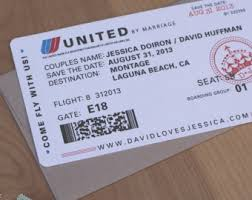 boarding pass save the date boarding pass invite etsy