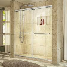 48 Shower Doors Dreamline Charisma 44 48 In W X 76 In H Bypass Sliding Shower