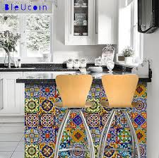 Kitchen Backsplash Decals Amazon Com 12 Designs Mexican Tile Stickers Peel U0026 Stick Vinyl