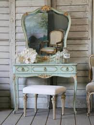 bedroom vintage home furniture of aqua painted small vanity for