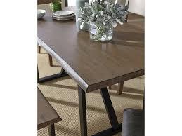 standard furniture sierra rustic rectangular table with live edge