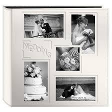 White Wedding Album Embossed Collage Frame 5 Up Photo Wedding Album Target
