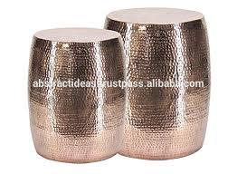 Hammered Metal Coffee Table Metal Drum Side Table U2013 Thelt Co