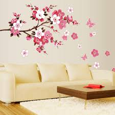 Cherry Blossom Decor Zy6008 Cherry Blossom Wall Poster Waterproof Background Wall
