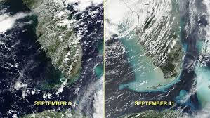 satellite map of florida satellite imagery shows how hurricane irma left its on the