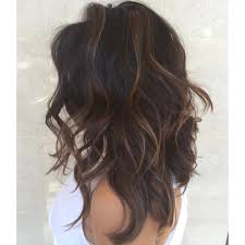 partial red highlights on dark brown hair she booked a color partial highlight a haircut blow out is