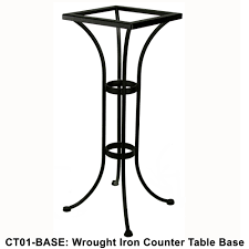 ow lee standard wrought iron counter height bistro table base