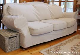 How To Make Sofa Covers Carolina Country Living Drop Cloth Sofa Slipcover