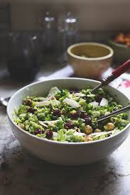 shredded brussels sprout salad the healthy maven