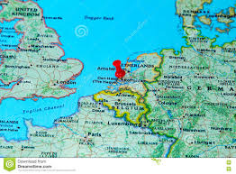Brussels Europe Map by Rotterdam Netherlands Pinned On A Map Of Europe Stock Photo