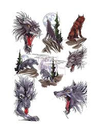 wolf designs tattoos book 65 000 tattoos designs