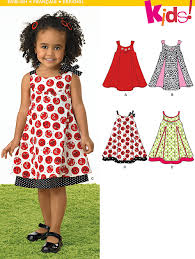 new look 6974 toddlers dresses