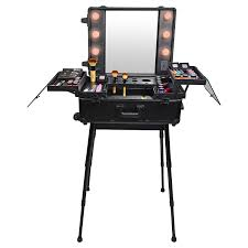 makeup luggage with lights shany studio to go makeup case with lights amazon co uk beauty