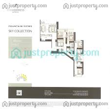 Floor Plans By Address by Address Fountain Views 3 Sky Collection Floor Plans Justproperty Com