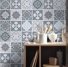 kitchen backsplash tile stickers vintage blauw grijs tegelstickers keuken tegels tegels voor de