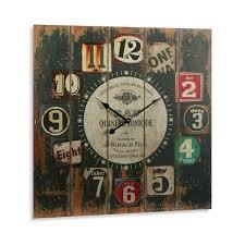 Grande Horloge Murale Carrée En Bois Vintage Achat Grande Horloge Murale Carrée En Bois Vintage Achat Vente Horloge
