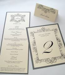 Wedding Reception Program Template Ava Vintage Wedding Reception Stationery Menu Place Card