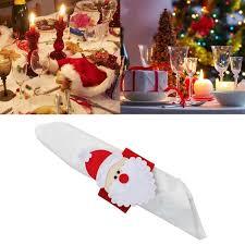 christmas holders 4pcs christmas santa claus napkin rings serviette holder napkin