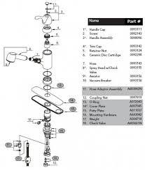 glacier bay kitchen faucet diagram glacier bay faucet parts list decoration