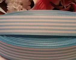 blue and white striped ribbon blue and white stripe grosgrain ribbon etsy