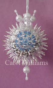 beaded satin ornaments