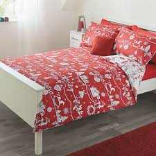 george home red christmas print duvet range bedding asda