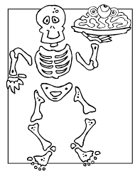 free printable skeleton coloring pages kids
