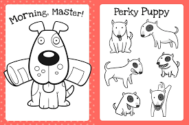 cute coloring book puppies book bee books