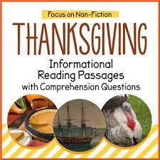 thanksgiving reading passages by littlered teachers pay teachers