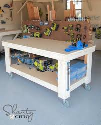 rolling work table plans new year new workbench baby garage workshop diy workbench and