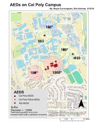 Cal Poly Campus Map Aed Placement Program