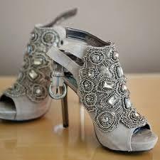 gray wedding shoes 30 gorgeous jeweled wedding shoes to get inspired weddingomania
