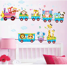 amazon com baby kids safari animals train wall stickers nursery amazon com baby kids safari animals train wall stickers nursery decor art mural removable by lollilook home kitchen