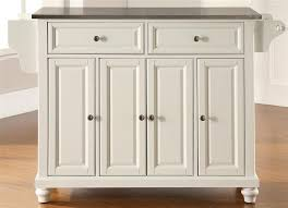 kitchen island with stainless steel top buy cambridge stainless steel top kitchen island in white elegant