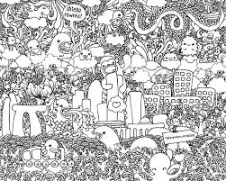 online for kid free printable doodle art coloring pages 16 in
