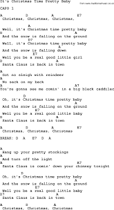 it u0027s christmas time pretty baby by elvis presley lyrics and chords