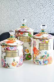 funky kitchen canisters mackenzie childs flower market canister review kitchen canisters