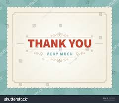 thanksgiving email message thank you message card retro lettering stock vector 172259543