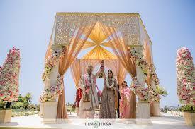 Indian Wedding Mandap Rental Ritz Carlton Laguna Niguel Indian Ceremony Rohit U0026 Anushka