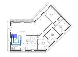 plan de maison en v plain pied 4 chambres plan maison 100m2 plein pied great with en l newsindo co